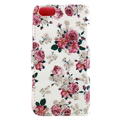 EUDTH iPhone SE Coque Peinture Style Housse Flip Cover Portefeuille Etui en Cuir de Protection Case vec B¨¦quille pour iPhone 5 / 5S / iPhone SE -YH06 YH15