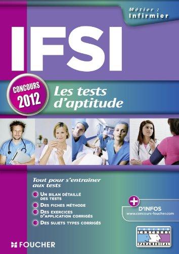 IFSI les tests d'aptitude Concours 2012
