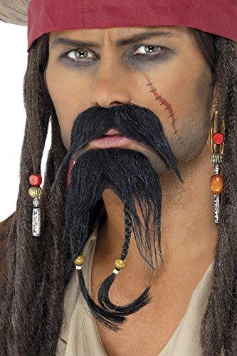 Smiffy'S 30123 Set De Pelo Facial De Pirata
