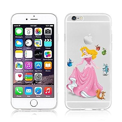 Aurora Princesse Disney - Coque en TPU pour Apple iPhone /6/6S/6Plus/6S