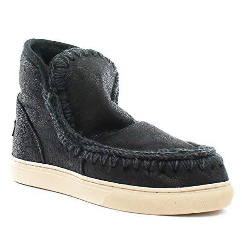 Mou Stivali Montone Mini Eskimo Sneaker Cracked Black Grey Cracked Black Grey