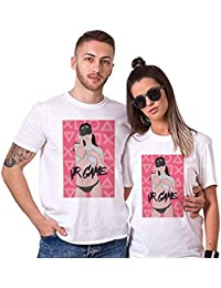 Sai Shree Couple Nightwear T Shirt | Concupiscence T Shirt for Loved Ones | Philanthropy | Free Size White