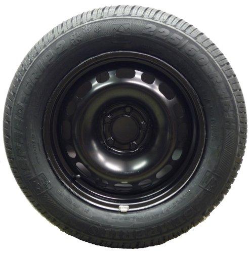 '1 Jeu - Hiver de roue complet pour Citroen C5/C5 Tourer (Break) (type : R * * * * * *) 1,8-16 V/2.0-16 V/HDi 110-80-120 kW - Jante en acier 7 x 16 avec 225/60 R16 98H Semperit Speed de Grip 2 Pneu d'hiver