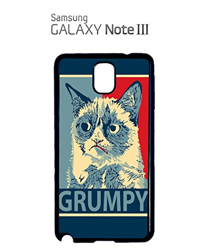 Grumpy Cat Funny Cats Animals Dog Dogs Painting Mobile Phone Case Samsung Note 3 White Blanc