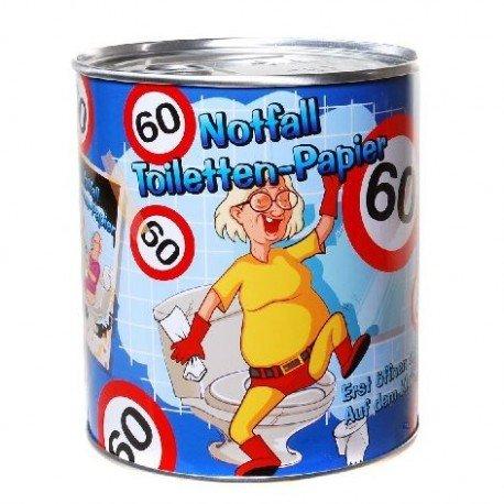 Preisvergleich Produktbild Notfall Toilettenpapier 60 Jahre Geschenk für den Geburtstag Klopapier