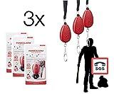 3x Taschenalarm Pieper Panikalam Schrillalarm Alarm Alarmanalage Schlüsselanhänger für Schlüsselbund, Schlüssel, Tasche, Handtasche für Frauen Selbstverteidigung sehr laut Abwehr