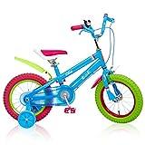 Zhijie 16-Zoll-Jungen-Mädchen-Regenbogen-Fahrrad, Kinderfahrrad 6-10 Jahre alte Kinderfahrrad-anhebender Sattel, justierbares Schlamm-Brett, verbreiterte Reifen, schnelle Installation