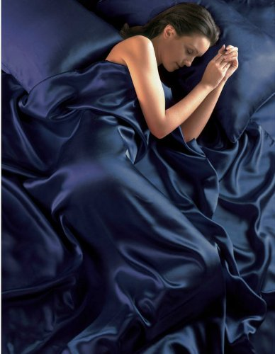 navy-blue-satin-seamless-king-duvet-cover-fitted-sheet-and-4-pillowcase-set