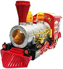 Shop & Shoppee Battery Operated Bubble Shooter train Engine with light & Music(Multicolor)