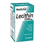 Health Aid Lecithin 1200mg (unbleached) , 50 Capsules