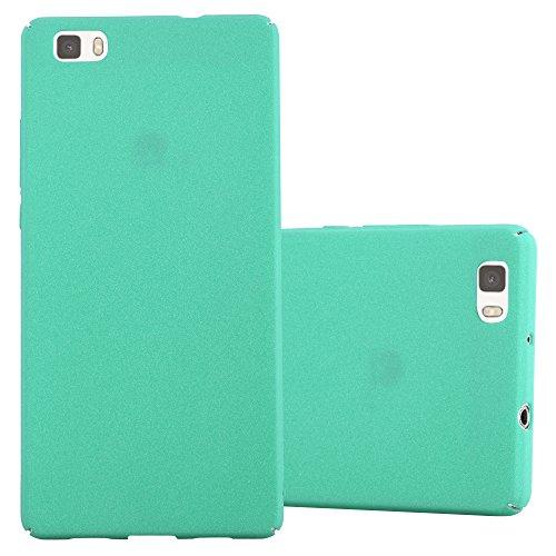 Preisvergleich Produktbild Cadorabo Hülle für Huawei P8 Lite 2015 - Hülle in Frosty Grün – Hardcase Handyhülle im matten Frosty Design - Schutzhülle Bumper Back Case Cover