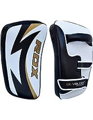 RDX MMA Cuero Vacuno Boxeo Escudo Artes Marciales Paos Manoplas Entrenamiento Segunda Mano Patada Pad (Esto Se Vende Como Solo Artículo)