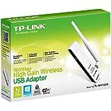 TP-Link TL-WN722N High Gain WLAN USB Adapter(150Mbit/s, WPS, Externe High-Gain-Antenne für besten WLAN-Empfang, unterstützt Windows 8.1/8/Vista/7/XP, kompatibel mit Raspberry Pi) weiß/schwarz