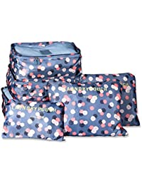 Packing Cubes, TTBD Set of 6pcs Luggage Organiser Waterproof Clothes Storage Bags with Laundry/Toiletry Bag for Travel or Household