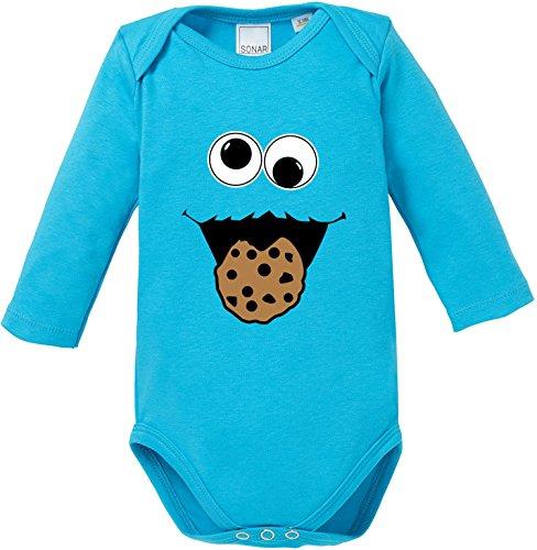 EZYshirt Cookie Monster Baby Body Longsleeve Bio Baumwolle