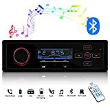 ieGeek Autoradio Bluetooth Stereo vivavoce, 40W x 4 Universale 1 din In-Dash autoradio bluetooth MP3, USB/AUX /12V WMA e lettore MP3 / radio AM/FM per Samsung/iPhone/Android/Smart Phone,Tesoro