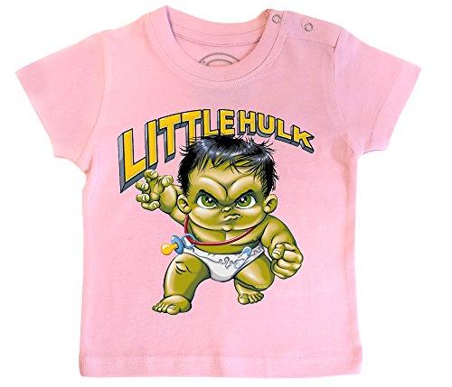 PIXEL EVOLUTION 3D Animierte T-Shirt Baby Little Hulk in Augmented Reality Größe 12 Mois - Pink (Mädchen Realität T-shirt)