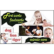 Flashcards for babies: Animals flashcards,  according to the standards of early education method of Professor Glenn doman, activate the memory capacity ... My First Touch Book 4) (English Edition)