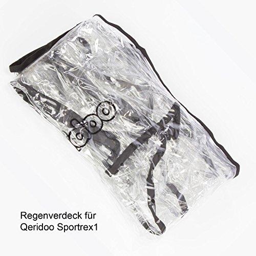 Qeridoo Zubehör Regenschutz für Sportrex1 Fahrradanhänger, 568745