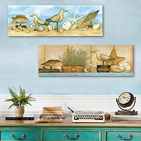 Qwer gusci di legno senza cornice di due dipinti decorano il bar lounge ristorante corsia ,24*70*2 Studio