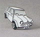 Metal Enamel Pin Badge Brooch White Mini Style Car