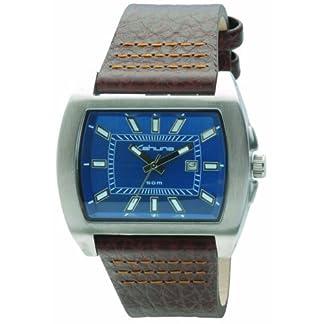 Kahuna KUS-0013G – Reloj analógico de Caballero con Correa de Piel marrón – Sumergible a 50 Metros