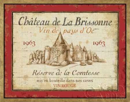 French Wine Label i by Daphne Brissonnet, disponibile - Stampa artistica su tela e carta, Tela, SMALL (14 x 11 Inches ) - French Wine Label