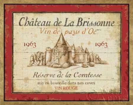 French Wine Label i by Daphne Brissonnet, disponibile-Stampa artistica su tela e carta, Tela, SMALL (14 x 11 Inches ) - French Wine Label