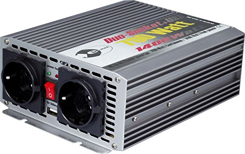 Wechselrichter 24 V DC/230 V AC 50 Hz - 700 Watt Dauerleistung 1.400 Watt kurzfristige Spitzenleistung, USB 5 (700w-wechselrichter)