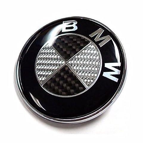 Ersatz Emblem auf der Fronthaube Carbon 82 mm logo Aufkleber Plakette