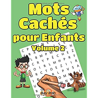 Mots Cachés pour Enfants Volume 2: 50 Grilles de Mots Mêlés   Gros Caractères