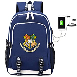 51h9al6fveL. SS300  - Comtervi Harry Hogwarts Mochila de diseño, Mochila para portátil, Mochila Escolar, Mochila Unisex para niños, Camping…