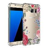 Case kompatibel mit Samsung Galaxy S7 / S7 Edge Hülle Silikon cover Bumper [Ultra Dünn] Stoßfest Marmor grau hellblau TPU Schutzhülle Anti-Scratch Anti-Rutsch Handyhülle (6, Samsung Galaxy S7)