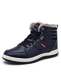 ea12a6d96ae MAYZERO Homme femme boots chaussures de neige fourré bottine chaude à lacet  avec haut talon pour