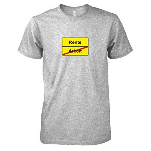TEXLAB - Schluss mit Arbeit Schild - Herren T-Shirt Graumeliert