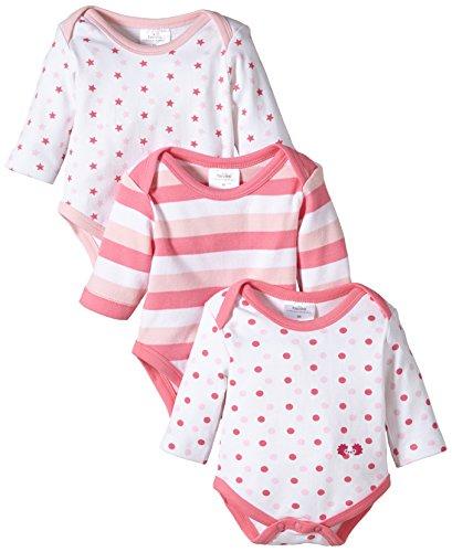 Twins Baby - Mädchen Langarm-Body im 3er Pack, Mehrfarbig, Gr. 80, rosa (13-2804 - rosé)