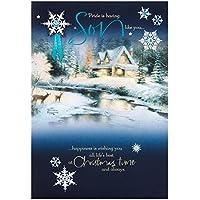 Hallmark Son Christmas Card 'Wonderful Time'- Medium