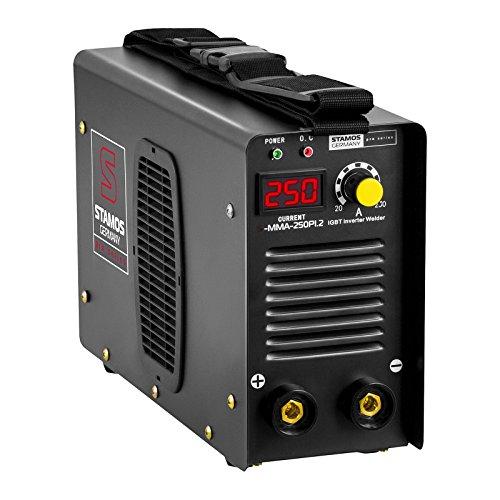 Schweißgerät Inverter Schweißgerät Elektroden E-Hand MMA (250 A, 8 Meter Schlauchpaket, Hot Start, Display LED, IGBT, Einschaltdauer 60%, inkl. Zubehör) Stamos Germany - 2