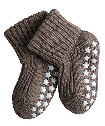 FALKE Babys Socken Catspads Cotton, 96% Baumwolle, 1 Paar, Braun (Pebble 5810), Größe: 74-80