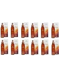 Nature's Arga 'huile solaire spray Invisible SPF30viso-corpo-capelli 12boîtes de 150ml ne unge, avec accélérateur...
