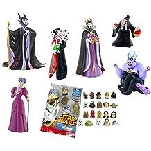 LOTE 6 FIGURAS Bullyland Brujas, Malas y Villanas de Disney - Maléfica - Bruja Blancanieves - Cruella de Vil, Madrastra, Úrsula, Lady Tremaine + REGALO