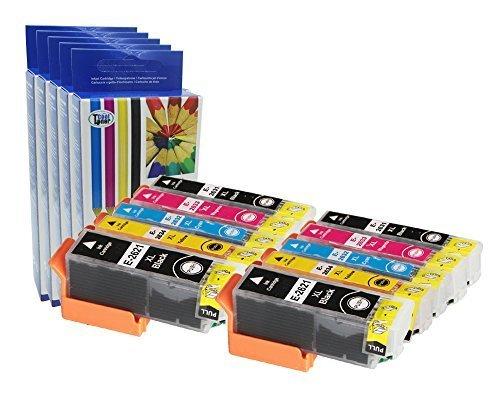 Preisvergleich Produktbild 10 XL Druckerpatronen kompatibe fuer 26XL (T2621 T2631 T2632 T2633 T2634) für Epson XP-600 605 610 615 700 710 800 810 mit CHIP