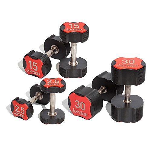 jordan-fitness-25-30kg-ignite-urethane-dumbbell-set