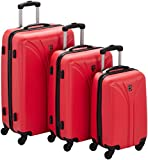 Geographical Norway SCARFACE_WL646H_RED Set 3 Trolley, 201 litri, Rosso