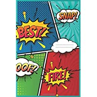 best - Comic Book for Kids: blank ,5-8 panels with Speech Bubbles, 120 pages WITH HIGH QUALITY, Draw and create your own Comics (kids , Blank comic books for kids)