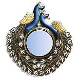"D'Dass™ Peacock 20"" Decorative Wall Mirror / Wall Decorative/Mirror For Wall / Hanging Mirror / Painted Mirror / Small Mirror By D'Dass/Wall Mirror For Living Room/Bathroom Mirror/Mirror For Gift/Christmas & New Year Festival"