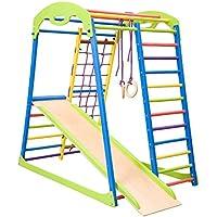 Espaldera para Gimnasio, Niños de Juegos ˝Sportwood˝ Escalera Sueca, Centro de actividades, Gimnasia de los niños en casa