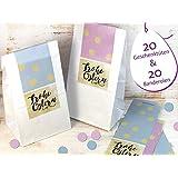 Ostern Set 20 Stück Aufkleber Banderolen Geschenküte weiß