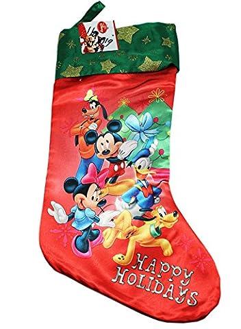 Christmas Stocking Disney Mickey Mouse Happy Holiday Socks New 388294
