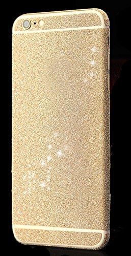 Fashion Dreams Mall (TM) Bling lucido autoadesivo pellicola Stikers Case-Custodia di protezione per corpo completo per Apple iphone 6 Champagne Gold